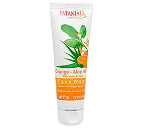 Patanjali ORANGE ALOEVERA FACE WASH, 60gm Natural Herbal