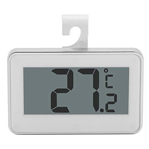 Termómetro para refrigerador, monitor de temperatura ambiente con congelador y refrigerador inalámbrico a prueba de agua digital con gancho magnético, gran pantalla LCD grande para interiores