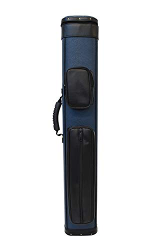2x4 Professional Pool Cue Case 2butts 4shafts Carry Billiard Pool Cue Stick Case (Blue)