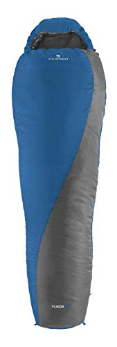 Ferrino - Saco de Dormir Yukon Plus, Unisex, para Adulto, Azul, Talla única