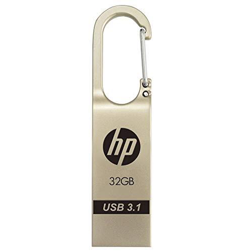 HP X760w USB 3.1 Flash Drive 32GB, hasta 75MB/s de Velocidad de Lectura, diseño de Gancho de Clip