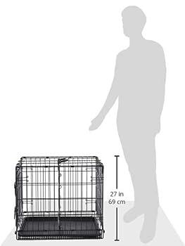 AmazonBasics Cage pliante en métal avec 1porte pour chien - 61 cm