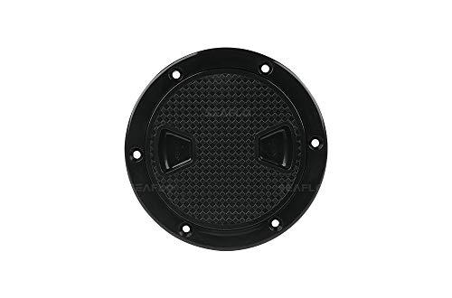 SEAFLO 4' - 8' Black Circular Non Slip Inspection Hatch w/Detachable Cover (6')