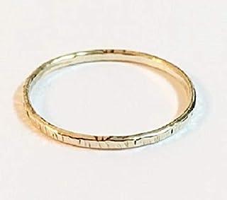 FloweRainboW Dünner Trauring 750 Gold Gehämmert und Texturiert - Hochzeitsring/Ehering/Verlobungsring - Damen/Männer
