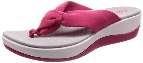 Clarks Arla Glison Slingback Sandalen, Pink (Rose Hip), 35.5 EU