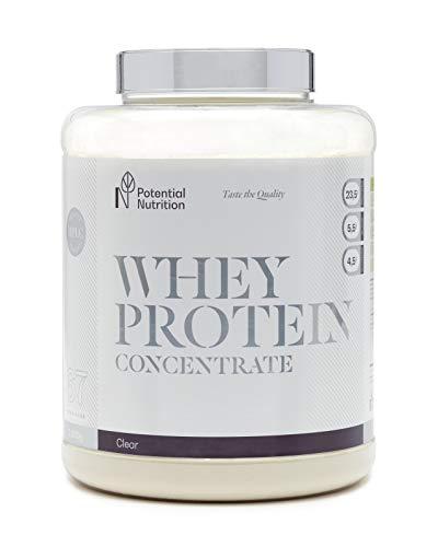 100% Proteína Whey 2kg - Materia Prima Pura - Marca España - Sin Azúcares añadidos - Potential Nutrition