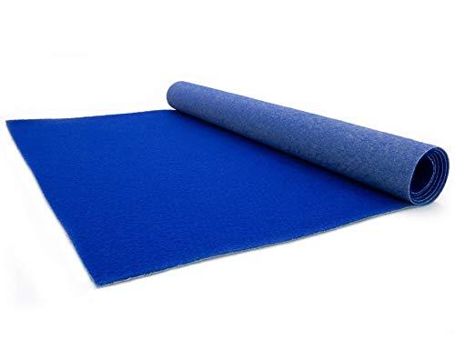 Hochzeits-Läufer Event-Teppich Meterware - 1,00m x 5,00m, Blau, B1, VIP Empfangsteppich, Gangläufer, Messeteppich