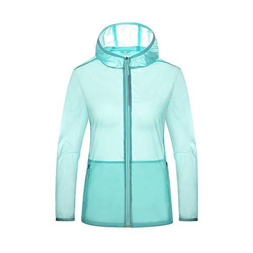 TBATM Femmes Veste de Sport léger, Respirant Softshell Manteau Peau-Friendly Coupe-Vent étanche Windproof pour la Course, Cyclisme, vélo et Voyage,H,M