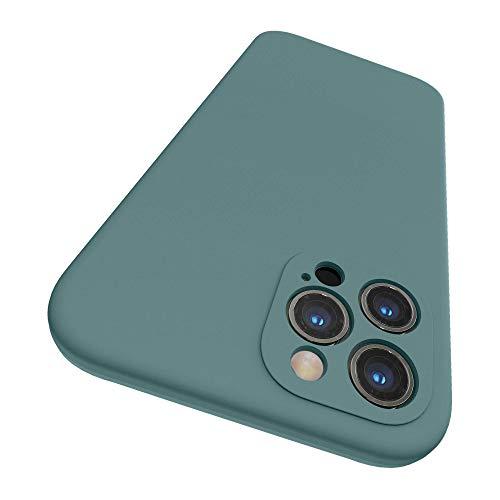 SURPHY Cover Compatibile con iPhone 12 PRO Max(6,7'), Custodia in Silicone per iPhone 12 PRO Max Cover Antiurto con Protezione Individuale per Ogni Lente Case per iPhone 12 PRO Max, Verde Cactus