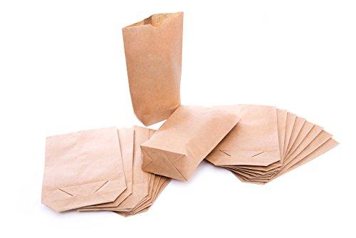 Logbuch-Verlag 25 Papierbeutel braun klein Kraftpapier Geschenkbeutel Weihnachten natur bio Papiertüte 16,5 x 26 x 6,6 zum Befüllen Standbeutel basteln Kinder
