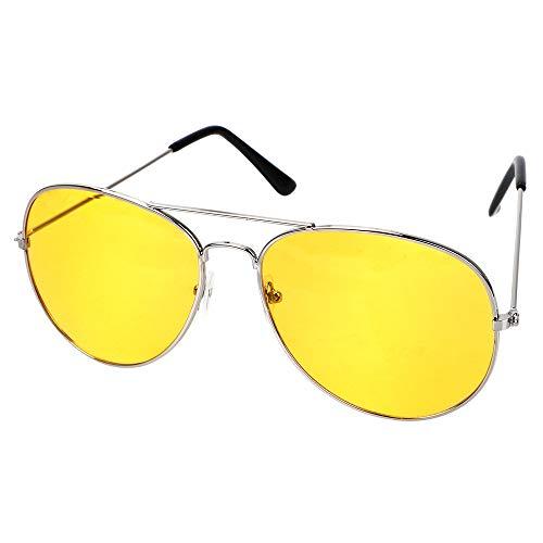 Polarisierte Fahrbrille Anti-Glare Polarisator Sonnenbrille Kupferlegierung Auto Zubehör Autotreiber Nachtsichtbrille (Silberrahmen)