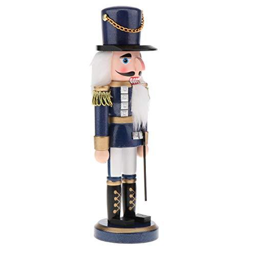 lahomia 13.7'Muñecas de Madera Creativas Artesanía Cascanueces Soldados Marionetas Decoraciones para El Hogar - Azul, Individual