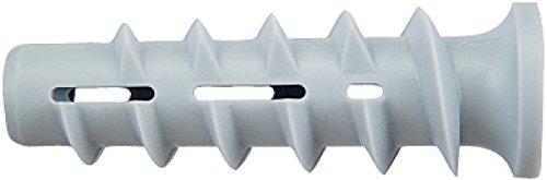 fischer FTP K 6 - Turbo Porenbetonanker aus Kunststoff zum Befestigen von Bildern, Leuchten und Wandregalen uvm. in Porenbeton und Vollgips-Platten - 25 Stück - Art.-Nr. 78412