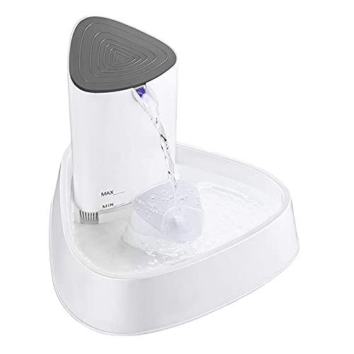 N / B 1.5L Fuente automática de Agua de Gato, con luz de Noche, Mascotas Dispensador de Agua de Silencio, Filtro de carbón Activado Tazón de Consumo eléctrico