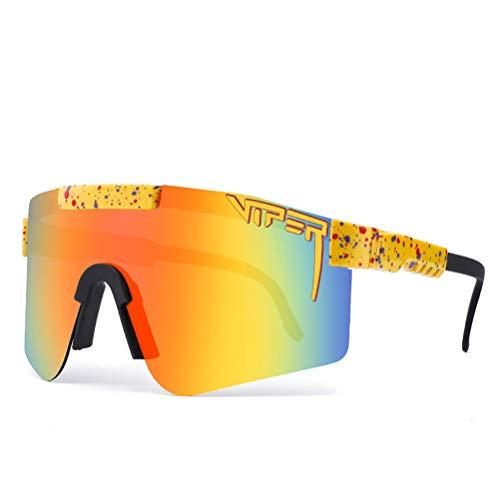 1 pieza polarizada Pit Anti-UV Deportes Gafas UV-400 al aire libre Ciclismo Deportes Gafas para Carreras, Correr, Pesca, Montañismo, Senderismo o Actividades al aire libre