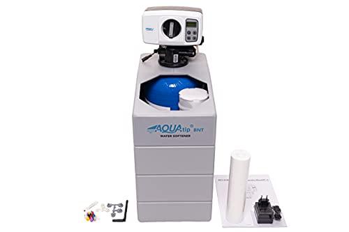 AQUATIP - AQ® BNT 8 - Wasserenthärtungsanlage für 1-4 Personen. Wasser Enthärtungsanlage, Entkalkungsanlage für Einfamilienhaus. Maße: 40cm x 14cm x 50 cm