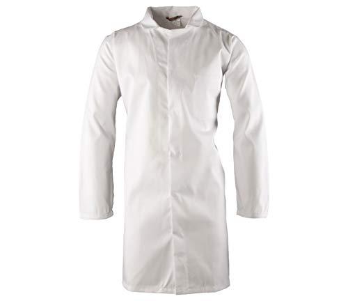 Polstar Laborkittel Herren weiß Kochkittel Arztkittel Arbeitskittel Labor HACCP (M)