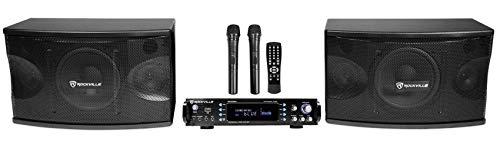 "Rockville RPA70WBT Bluetooth Karaoke Amplifier/Mixer+(2) Mics+(2) 8"" Speakers"