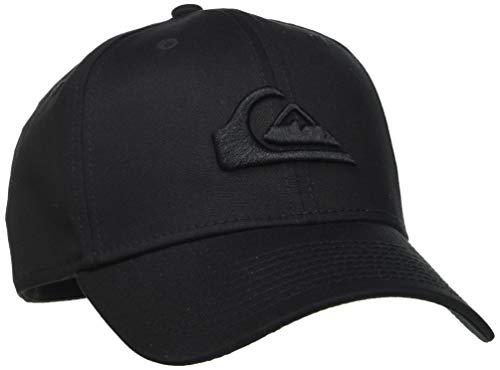 Quiksilver Herren Mountain und Wave - Stretch-Fit-Cap von New Era für Männer Kappe, Black, M/L
