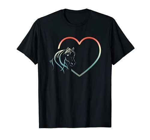 Regalos de caballo Amo el diseño de corazón de caballo Camiseta