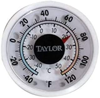 "Taylor 5380n 1 3/4"" Mini Stick on Indoor Outdoor Dial Thermometer"