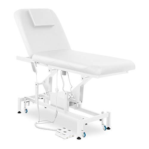 Physa Massageliege Massagetisch Behandlungsliege Therapieliege LYON WHITE (weiß, 2 Zonen, elektrisch, bis 200 kg, individuell einstellbar)
