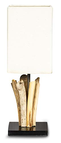 Tischlampe Höhe 41cm Tischleuchte Treibholz Teakholz Holz Lampe Leuchte Naturholz Unikat Tischdeko Holzdeko Treibholzlampe