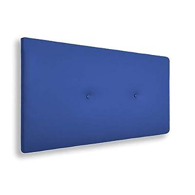 🛌 SILVI - Cabecero con una estructura de madera y tapizado en polipiel con una hilera de botones, dándole un toque juvenil y moderno. 📐ESPECIFICACIONES - Cabecero liso de color azul. Medidas: 90x5x50 cm. 🔎 TRANSPIRABLE - La parte trasera contiene un ...