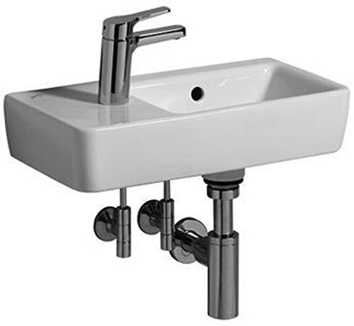 Keramag Renova Nr. 1 Comprimo NEU Handwaschbecken asymmetrisch, 50 cm weiß; mit Hahnloch links