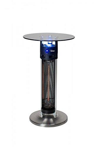 Termolampione stufa per esterno Spina elettrica da terrazza stufa bar Bimar con tavolino in vetro temperato