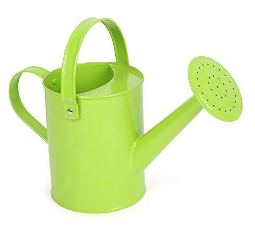 Small Foot 12017 - Regadera de Metal con asa móvil para Utensilios de jardín, Color Verde