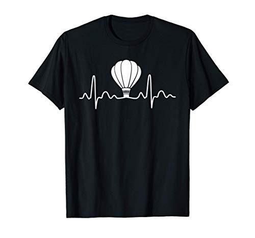 Heißluftballon Herzschlag Ballonfahrt Ballonfahrer Geschenk T-Shirt
