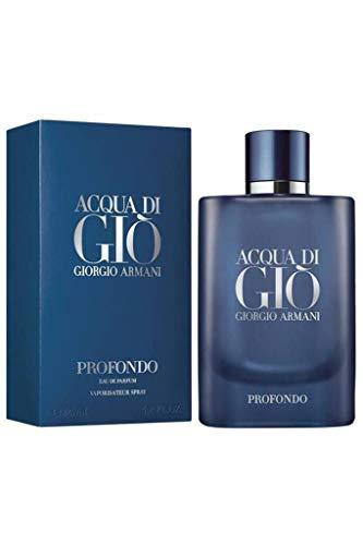 Giorgio Armani Unisex 125ML VAPORIZADOR Acqua DI GIO PROFONDO EAU DE Parfum 125 ml VERDAMPFER, Negro, Nur