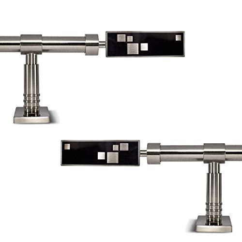 """Gcurtain Barra de Cortina de Metal Diámetro Estándar 3/4"""" - 5/8"""" (16-19 mm) Ajustable Fácil Ventana Decorativa Diseño Elegante - Digital / 120""""-160"""" (310-410Cm)"""