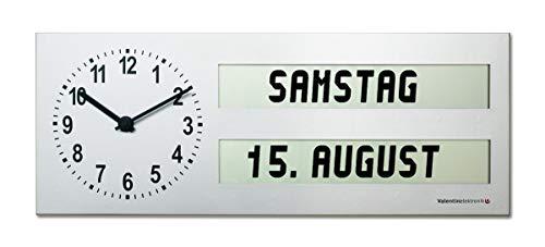 Seniorenuhr / Analog-Digitaluhr AMC 26 mit ausgeschriebenem Wochentag und Tageszeit