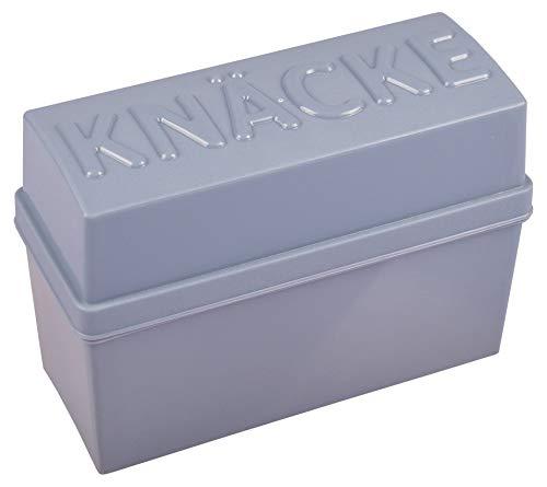Knäckebrotbox Brotbox Knäckebrot Box Brotdose Aufbewahrungsbox Vorratsdose, Farbe:grau