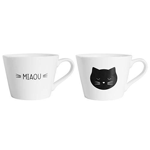 SEMA Duo Tasses Petit Déjeuner Miaou