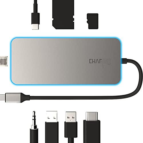 USB C Docking Station Gen 2, 4K@60Hz HDR HDMI, 2 USB 3.2 Gen 2, microSD & SD Card 4.0 UHS-II , 100W, Ethernet, 3.5mm, CharJenPro Ultimate Dock for MacBook Pro, iPad Pro, iPad Air 4, iPad Mini 6