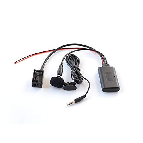 ZHANGHONGWEI Ajuste del Cable del Receptor AUX Bluetooth Ajuste para Ford FIT Focus Focus MK2 MK3 FIT para Fiesta Audio con LA Interfaz DE Unidad DE Cabeza AUX Mic