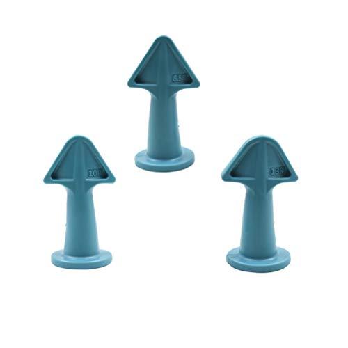 3 Pcs Silicone Caulk Nozzle Applicator, Caulk Finishing Tool Silicone Sealant Caulking Finisher Epoxy Piston Caulking Nozzle Accessories Grout Scraper for Tile or Brick Joints (3 Size: 6.5R/10R/13R)