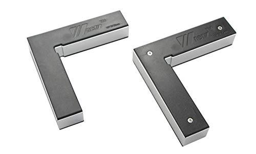 CarAngels アルミ製 直角定規 2個セット 平型スコヤ 直角 コーナー クランプ 指し物スコヤ L形 90度直角 木工 固定 締め付け ツール