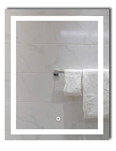 24X30 inch Dimmable LED Lighted Bathroom Wall Mounted Vanity Mirror + Dimmable -