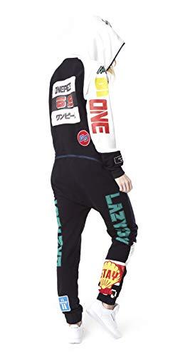 OnePiece Damen Jumpsuit Unisex Moto, Schwarz (Black) - 2
