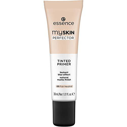 essence | My Skin Perfector Tinted Primer | Instant Blur Effect & Natural Matte Finish | Vegan, Paraben Free, Oil Free | Cruelty Free | (05 | Fair Neutral)