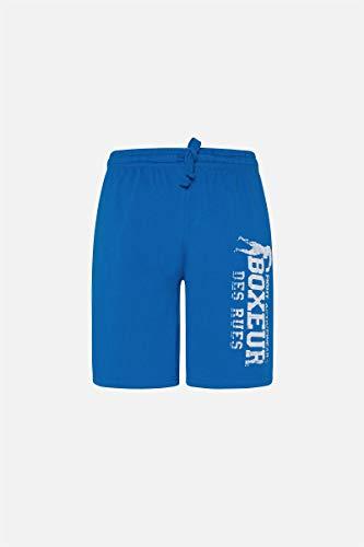 BOXEUR DES RUES - Pantaloncini Sportivi Blu Royal Con Logo, Uomo