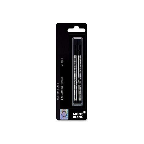 Authentic Mont Blanc. Apto a todos los bolígrafos Roller Mont Blanc excepto Legrand Tamaño Punta media Refill en negro