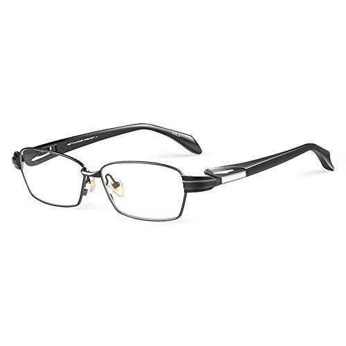 Gafas De Lectura Anti Luz Azul Para Hombre, Protección Ocular De Alta Definición, Lentes De Resina Y Titanio Puro, Montura Completa, Presbicia, Hipermetropía, Gafas Con Caja De Regalo