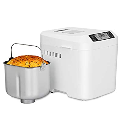 SUPER DEAL Bread Maker 2LB Automatic Bread Machine Programmable 12 Settings 3 Crust Colors Nonstick Pan for Home Bakery