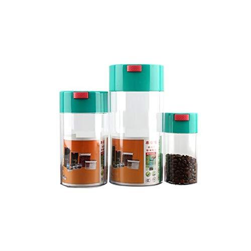 Larew Juego de 3 recipientes herméticos con tapa para granos de café, apilables, para cocina o frigorífico