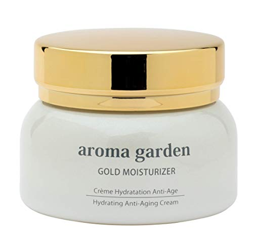 Gold Moisturizer - 24K Gold Feuchtigkeitscreme & Tagespflege gegen trockene Haut & Falten - Bio Anti-Aging Creme mit Gold, Hyaluronsäure, Arganöl & Immortelle - Revitalisiert mit 80 Nährstoffen 50ml